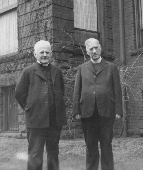 Fathers George Daly and Arthur Coughlan